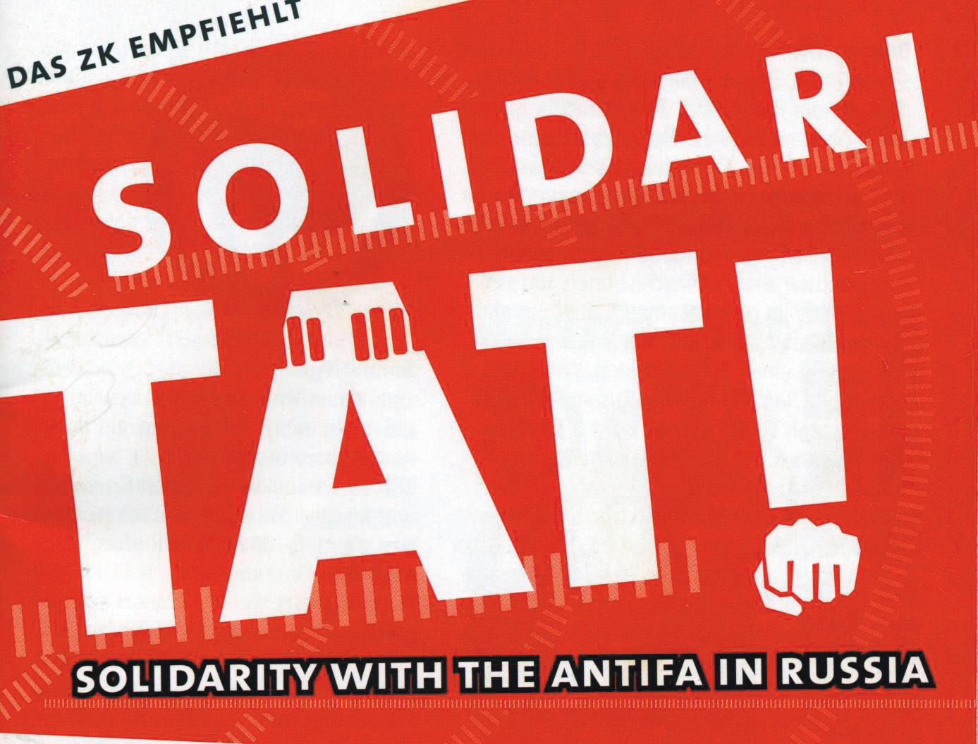Sampler Solidarität mit russischen Antifas